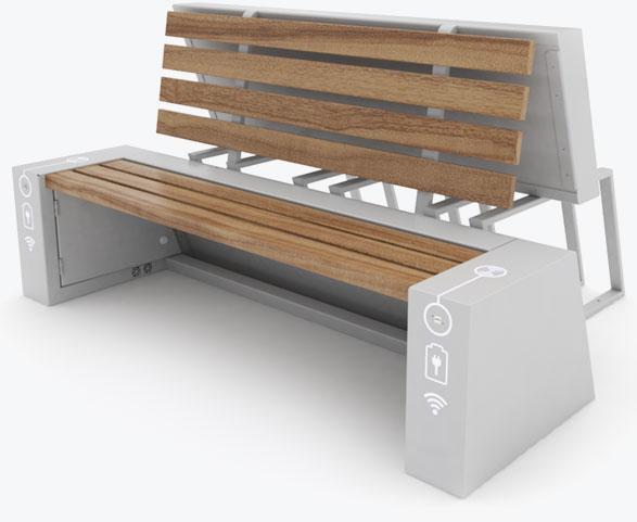 Ławka solarna - SEEDiA Urban