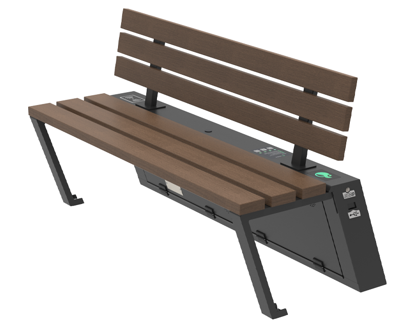 Solar bench - SEEDiA Urban Bike