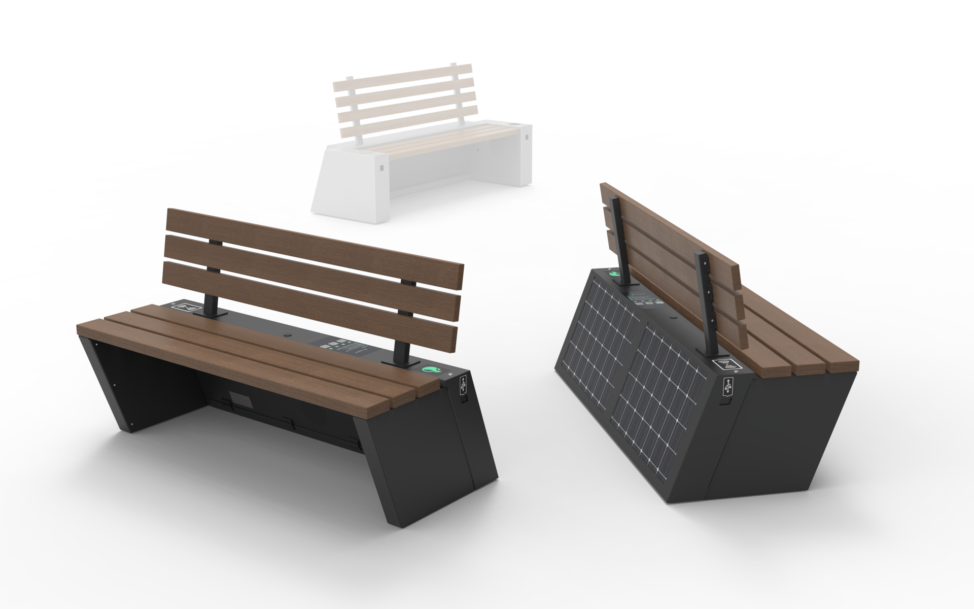 The latest version of SEEDiA Urban solar benches